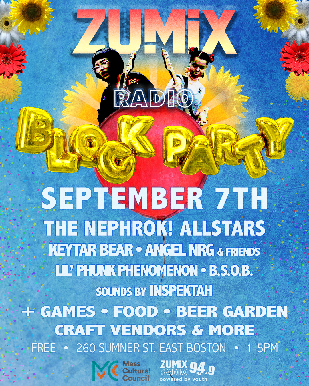 ZUMIX Radio Block Party Flyer 2019